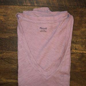 MADEWELL | lavendar v-neck pocket tee